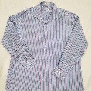 Peter Millar 2XL Long Sleeve Mens Button Front
